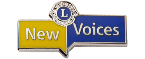 New Voices Pin